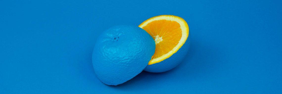 Citron teint en bleu