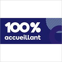 Logo 100% accueillant
